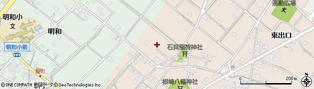 愛知県安城市根崎町(西出口)周辺の地図