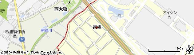 愛知県安城市藤井町(高根)周辺の地図