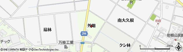 愛知県安城市野寺町(外畑)周辺の地図