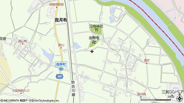 〒675-1352 兵庫県小野市西山町の地図