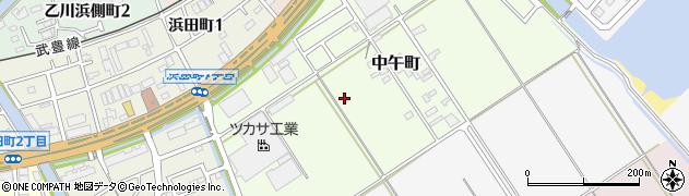 愛知県半田市中午町周辺の地図