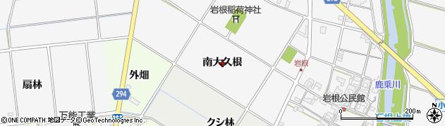 愛知県安城市小川町(南大久根)周辺の地図