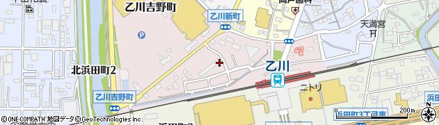 愛知県半田市乙川町周辺の地図