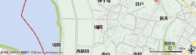 愛知県安城市東端町(切間)周辺の地図