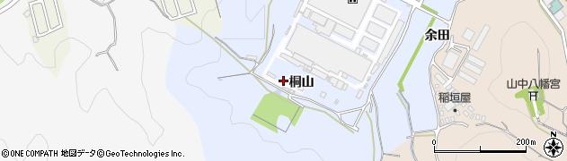愛知県岡崎市市場町(桐山)周辺の地図