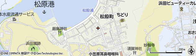 島根県浜田市松原町周辺の地図