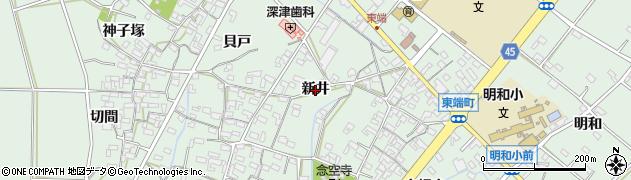 愛知県安城市東端町(新井)周辺の地図