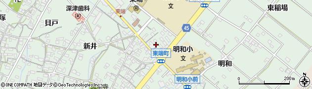 愛知県安城市東端町(鐘鋳場)周辺の地図