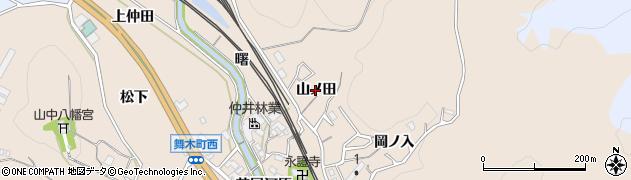 愛知県岡崎市舞木町(山ノ田)周辺の地図