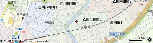 愛知県半田市乙川浜側町周辺の地図