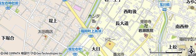 愛知県岡崎市福岡町(上高須)周辺の地図