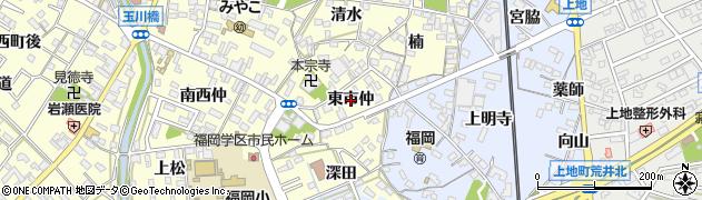 愛知県岡崎市福岡町(東市仲)周辺の地図