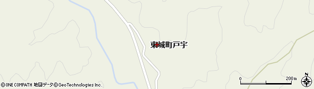 広島県庄原市東城町戸宇周辺の地図