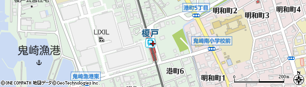愛知県常滑市周辺の地図