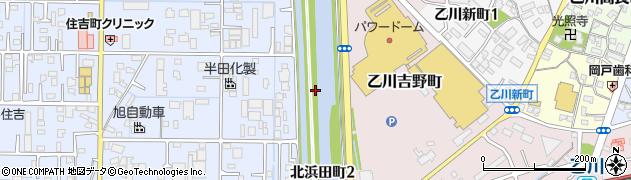 愛知県半田市北浜田町周辺の地図