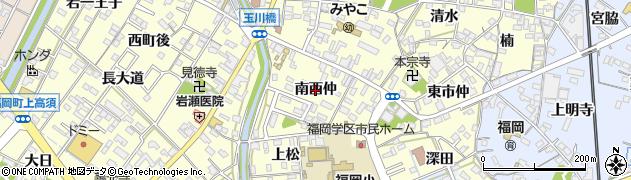 愛知県岡崎市福岡町(南西仲)周辺の地図