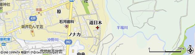 愛知県新城市平井(道目木)周辺の地図