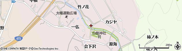 愛知県岡崎市大幡町(カジヤ)周辺の地図