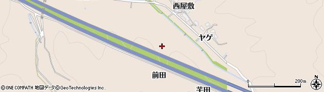 愛知県岡崎市鹿勝川町(前田)周辺の地図