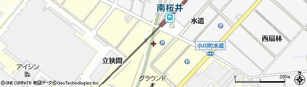 愛知県安城市藤井町(立狭間)周辺の地図