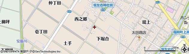 愛知県岡崎市坂左右町周辺の地図