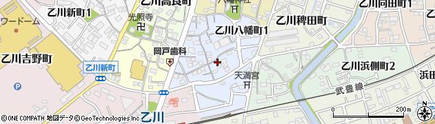 愛知県半田市乙川八幡町周辺の地図