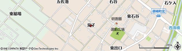 愛知県安城市根崎町(荒子)周辺の地図