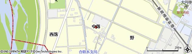 愛知県岡崎市合歓木町(中落)周辺の地図