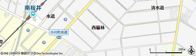 愛知県安城市小川町(西扇林)周辺の地図