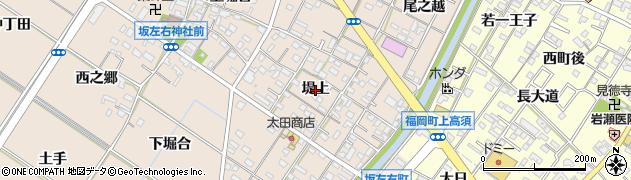 愛知県岡崎市坂左右町(堤上)周辺の地図