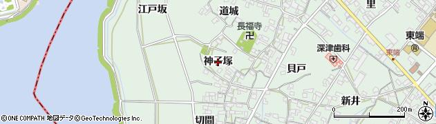 愛知県安城市東端町(神子塚)周辺の地図