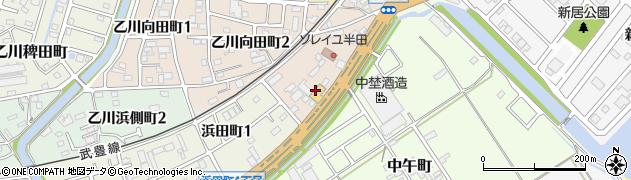 愛知県半田市祢宜町周辺の地図
