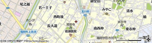 愛知県岡崎市福岡町(新町)周辺の地図