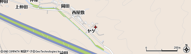 愛知県岡崎市鹿勝川町(ヤゲ)周辺の地図