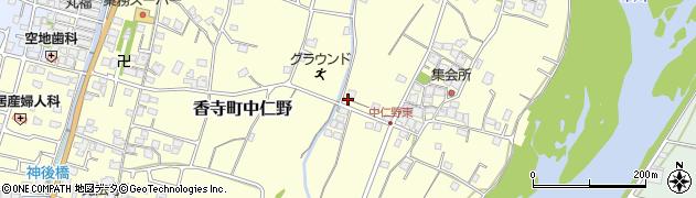 兵庫県姫路市香寺町中仁野周辺の地図