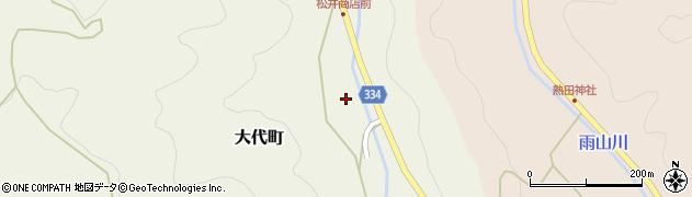 愛知県岡崎市大代町(林下)周辺の地図
