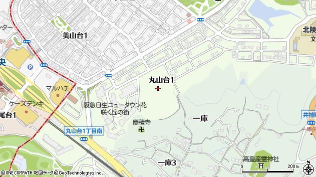 〒666-0152 兵庫県川西市丸山台の地図