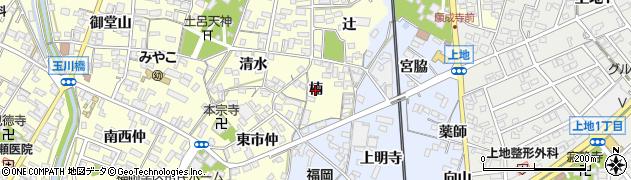 愛知県岡崎市福岡町(楠)周辺の地図