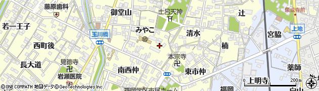 愛知県岡崎市福岡町(北西仲)周辺の地図