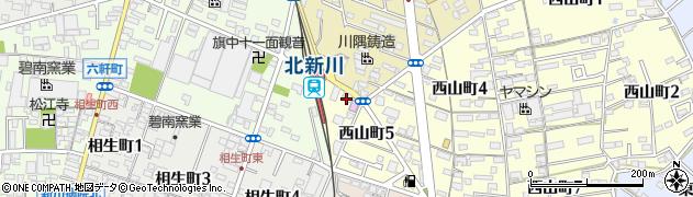スナックリラ周辺の地図