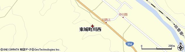 広島県庄原市東城町川西周辺の地図