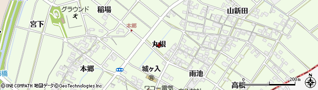愛知県安城市城ケ入町(丸根)周辺の地図