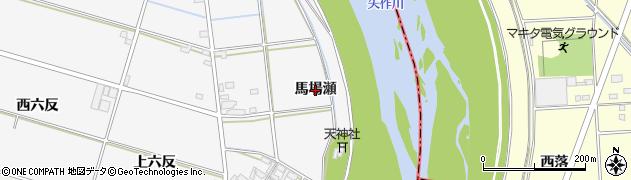 愛知県安城市小川町(馬場瀬)周辺の地図