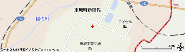 広島県庄原市東城町新福代周辺の地図