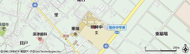 愛知県安城市東端町(大久手)周辺の地図
