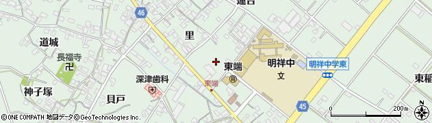 愛知県安城市東端町(住吉)周辺の地図