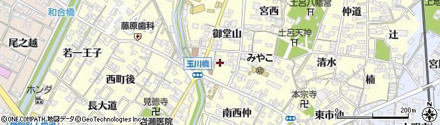 愛知県岡崎市福岡町(西ノ切)周辺の地図