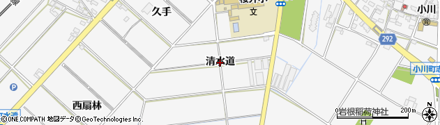 愛知県安城市小川町(清水道)周辺の地図