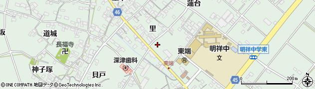 愛知県安城市東端町周辺の地図