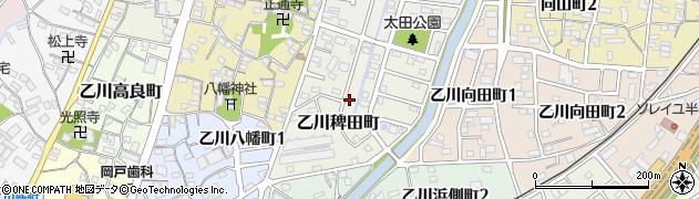 愛知県半田市乙川稗田町周辺の地図